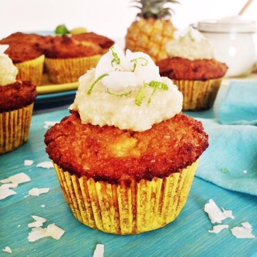 paleo-pineapple-muffin-with-lime-frosting